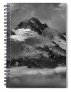 Black And White Tantalus Storms Spiral Notebook