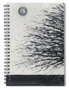 Black And White Snow Cold Winter Tree Spiral Notebook