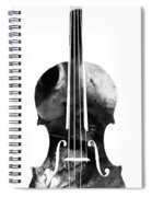 Black And White Violin Art By Sharon Cummings Spiral Notebook