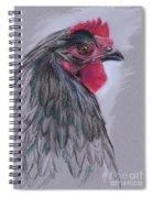Black Australorp Hen Spiral Notebook