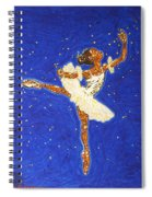 Black Ballerina Spiral Notebook
