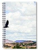Black Bird In Flight Spiral Notebook
