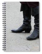 Black Boots Spiral Notebook