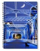 Black Cat Blue Bridge Spiral Notebook
