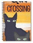 Black Cat Crossing Spiral Notebook