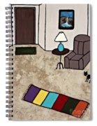 Essence Of Home - Black Cat Entering Living Room Spiral Notebook