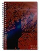 Black Cat In The Moonlight Spiral Notebook