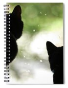 Black Cat Silhouettes Spiral Notebook