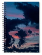 Black Clouds Against Sunset Spiral Notebook