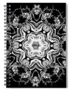 Black Diamond Princess Pendant Spiral Notebook