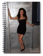 Black Dress Woman Spiral Notebook