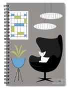 Black Egg Chair Spiral Notebook