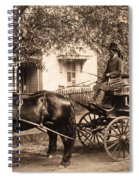 Black Family In Buggy Spiral Notebook