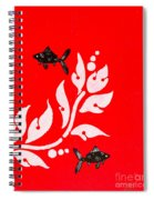 Black Fish Left Spiral Notebook