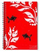 Black Fish Right Spiral Notebook