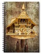 Black Forest Figurine Clock Spiral Notebook
