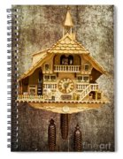 Black Forest Figurine Clock Spiral Notebook
