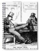 Black Friday Cartoon, 1873 Spiral Notebook
