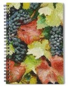 Black Grapes Spiral Notebook