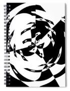 Black Gravity Spiral Notebook