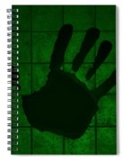Black Hand Green Spiral Notebook