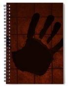 Black Hand Orange Spiral Notebook