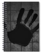 Black Hand Spiral Notebook