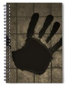Black Hand Sepia Spiral Notebook