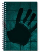 Black Hand Turquoise Spiral Notebook