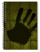 Black Hand Yellow Spiral Notebook
