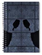 Black Hands Cyan Spiral Notebook