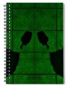Black Hands Green Spiral Notebook