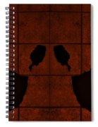 Black Hands Orange Spiral Notebook