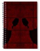 Black Hands Red Spiral Notebook