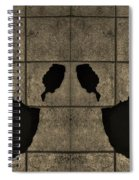 Black Hands Sepia Spiral Notebook