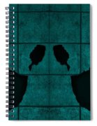 Black Hands Turquoise Spiral Notebook