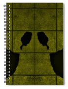 Black Hands Yellow Spiral Notebook
