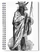 Black Hawk, Sauk Indian Leader Spiral Notebook