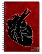 Black Heart Spiral Notebook