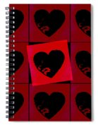 Black Hearts Spiral Notebook