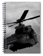 Black Heli Spiral Notebook