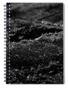 Black Ice Abstract Spiral Notebook