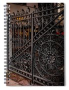 Black Iron And Red Brick Spiral Notebook