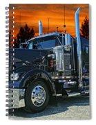 Black Kenworth Spiral Notebook