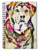 Black Lab Watercolor Art Spiral Notebook