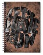 Black Labrador Typography Artwork Spiral Notebook