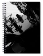 Black Lace Valentine Spiral Notebook