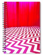 Black Lodge Magenta Spiral Notebook