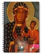Black Madonna Of Czestochowa Spiral Notebook