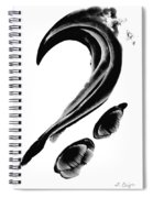 Black Magic 300 - Black And White Art Spiral Notebook